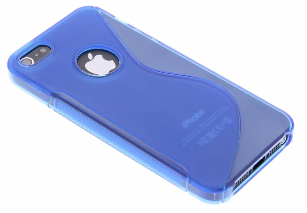 Blauw S-line TPU siliconen hoesje voor de iPhone 5 / 5s / SE