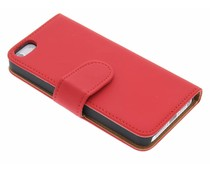 Rood effen booktype hoes iPhone 5 / 5s / SE