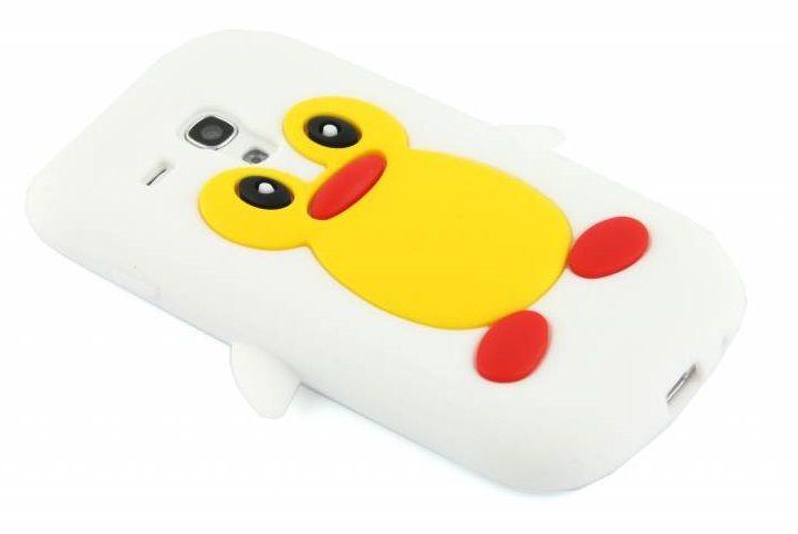 Wit pinguin siliconen hoesje voor de Samsung Galaxy S3 Mini i8190