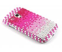Roze pareltjes BlingBling hardcase hoesje Galaxy S3 Mini