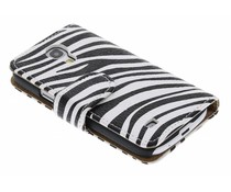 Zebra booktype hoes Samsung Galaxy S4 Mini