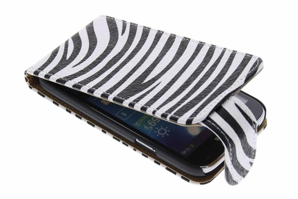 Zebra flipcase voor de Samsung Galaxy S4 Mini i9190