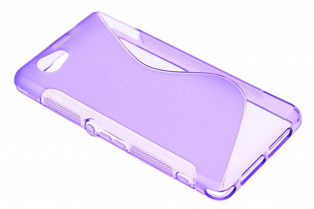 Paars S-line TPU hoesje voor de Sony Xperia Z1 Compact