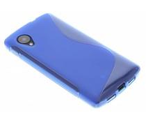 Blauw S-Line TPU hoesje LG Nexus 5