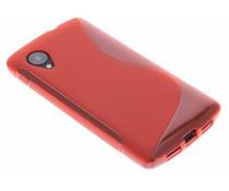 Rood S-Line TPU hoesje LG Nexus 5