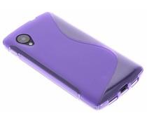 Paars S-Line TPU hoesje LG Nexus 5