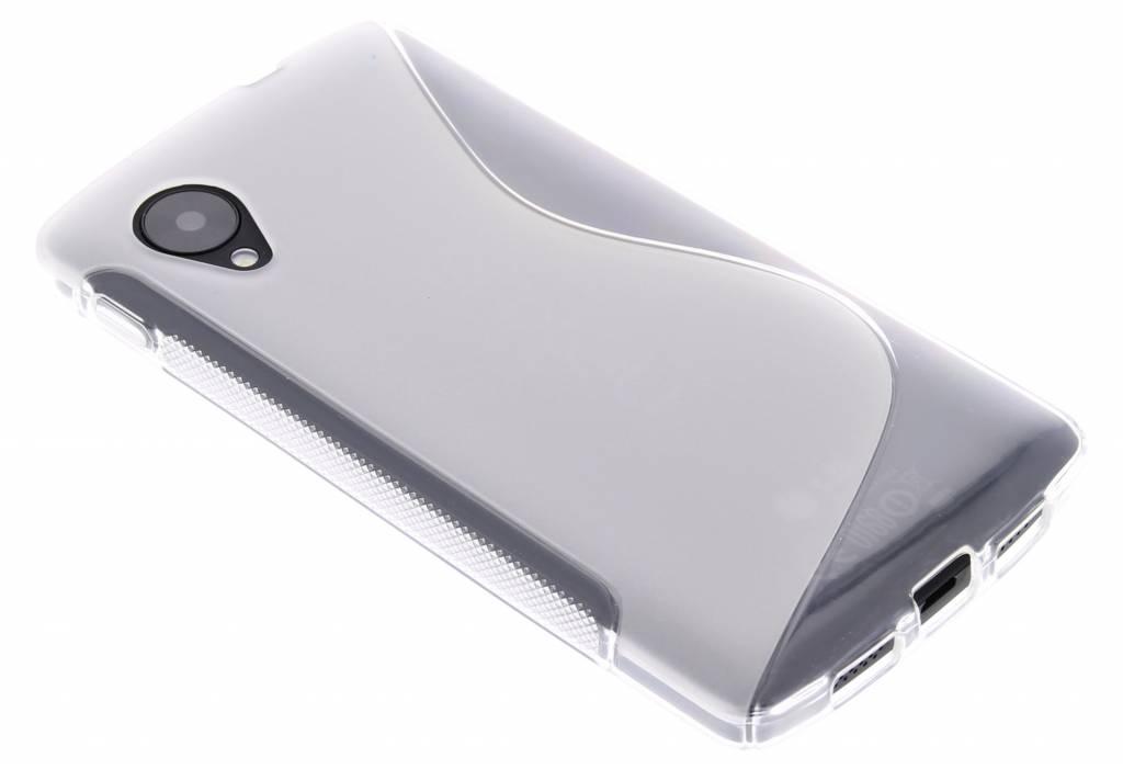 Transparant S-Line TPU siliconen hoesje voor de LG Nexus 5