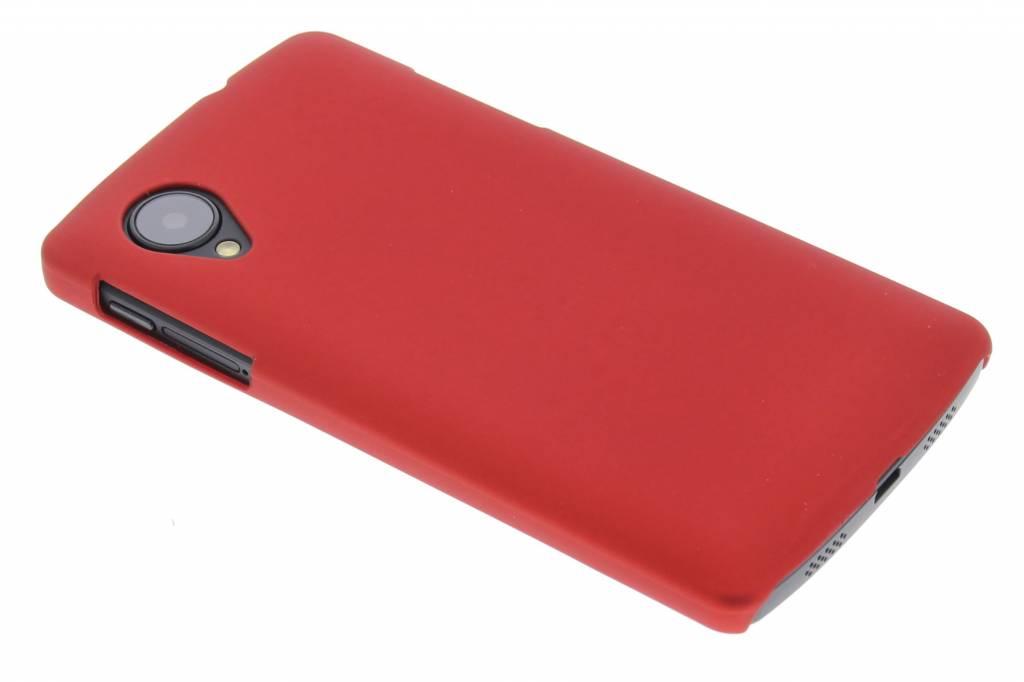 Rood effen hardcase hoesje voor de LG Nexus 5