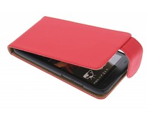 Rood classic flipcase HTC Desire 601