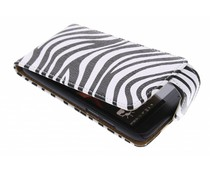 Zebra flipcase HTC Desire 601
