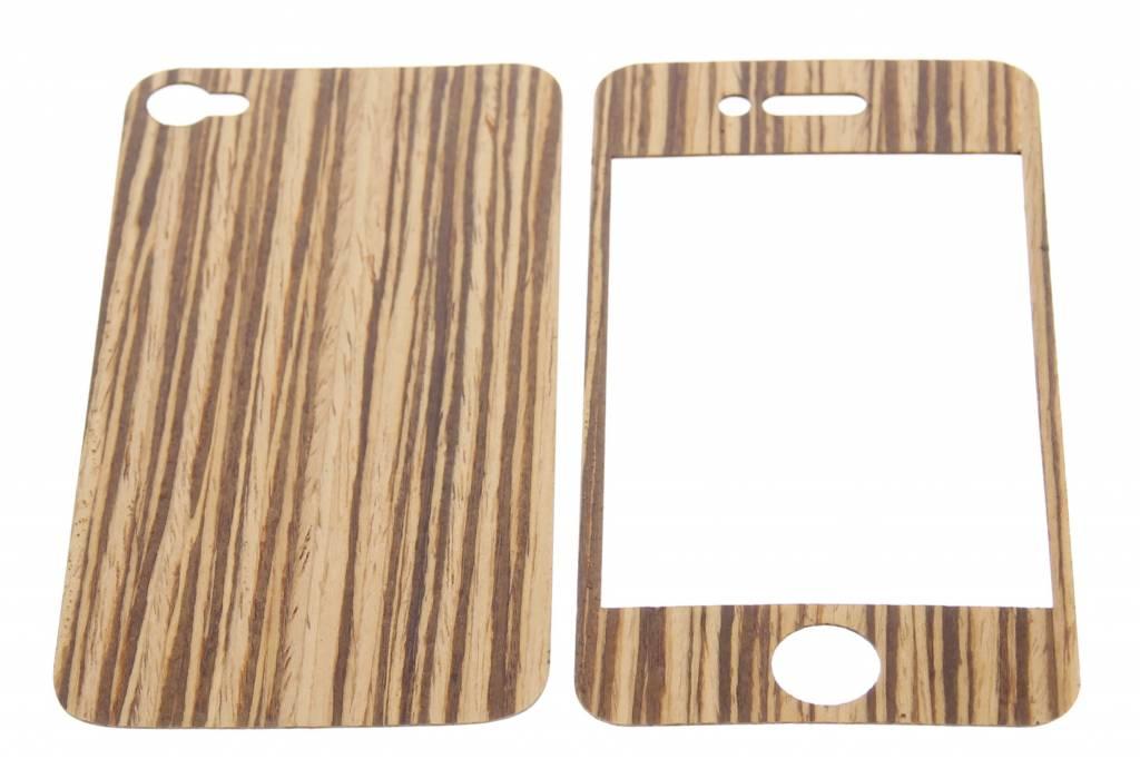 Bruin houten sticker voor de iPhone 4 / 4s