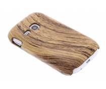Hout design hardcase hoesje Samsung Galaxy Young
