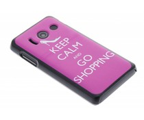Keep calm design hardcase Huawei Ascend Y300