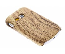 Hout design hardcase hoesje Samsung Galaxy Mini 2