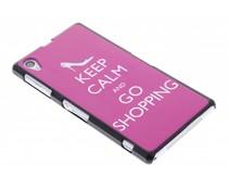 Keep calm design mat hardcase Sony Xperia Z1
