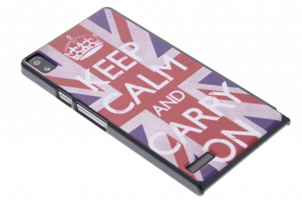 Keep Calm and Carry On design mat hardcase hoesje voor de Huawei Ascend P6 / P6s