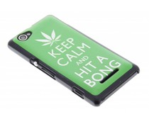 Keep Calm design mat hardcase hoesje Sony Xperia M