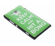 Keep Calm mat hardcase hoesje Sony Xperia SP