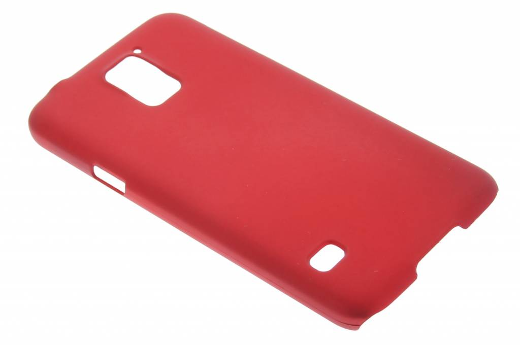 Rood effen hardcase hoesje voor de Samsung Galaxy S5 (Plus) / Neo
