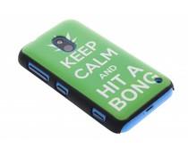 Keep Calm mat hardcase hoesje Nokia Lumia 620