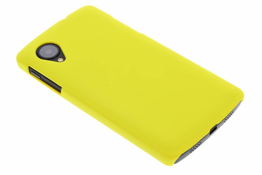 Geel effen hardcase hoesje voor de LG Nexus 5