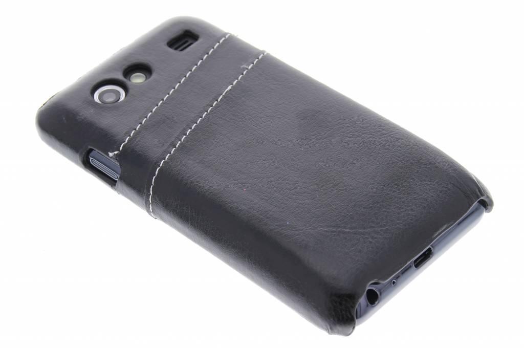 Zwarte hardcase hoes met vakjes voor de Samsung Galaxy S Advance
