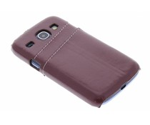 Bruin hardcase met vakjes Samsung Galaxy S3 / Neo