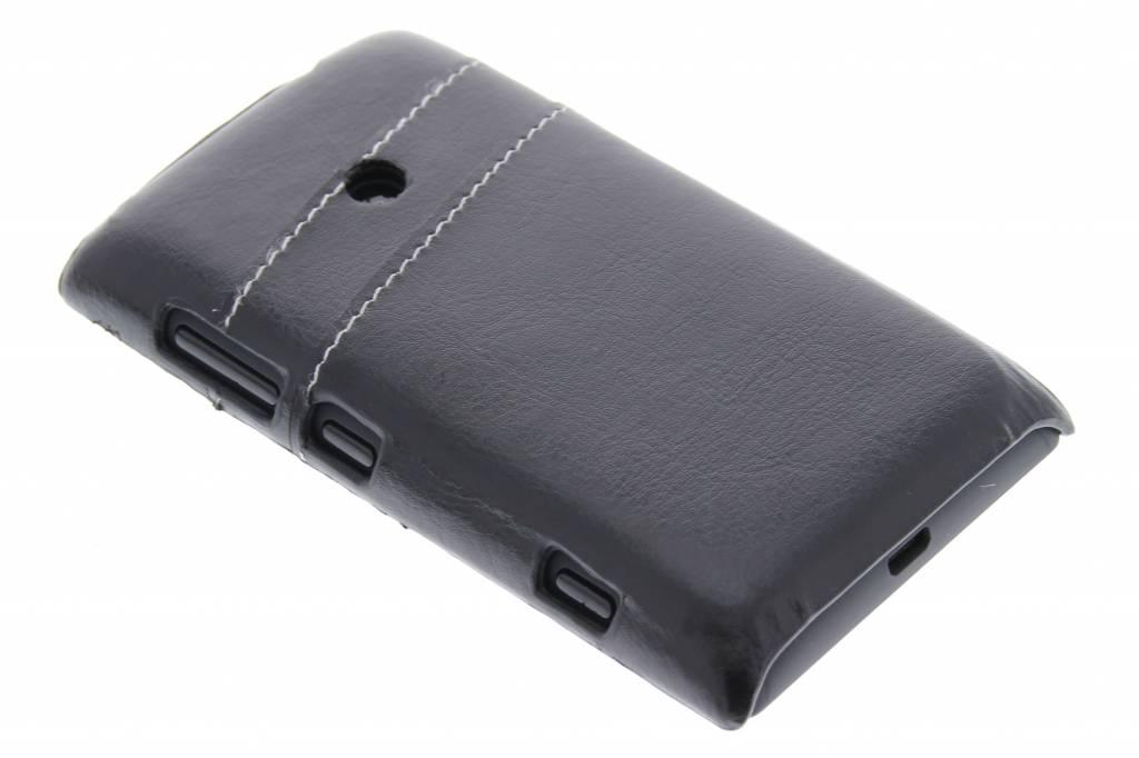 Zwart hardcase hoesje met vakjes voor de Nokia Lumia 520