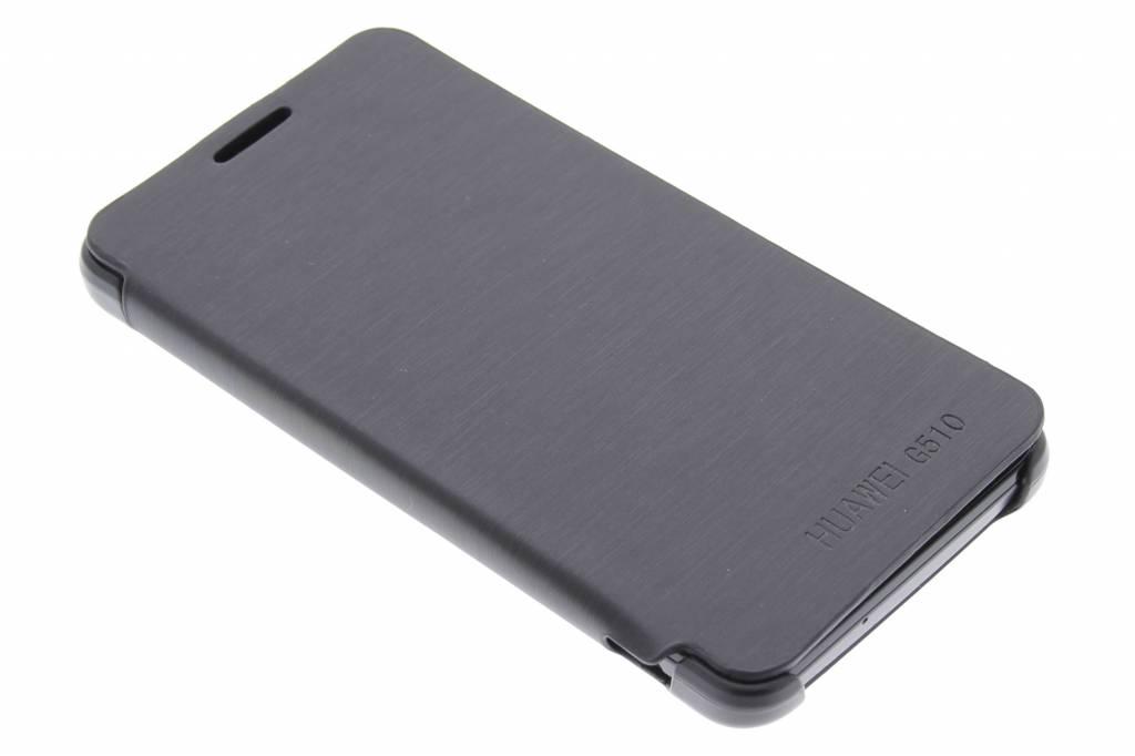 Zwarte slim booktype hoes voor de Huawei Ascend G510