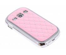 Roze strass design hardcase hoesje Samsung Galaxy Fame