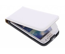 Wit luxe flipcase Samsung Galaxy Core LTE / Express 2