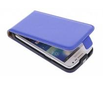 Blauw luxe flipcase Samsung Galaxy Core LTE / Express 2