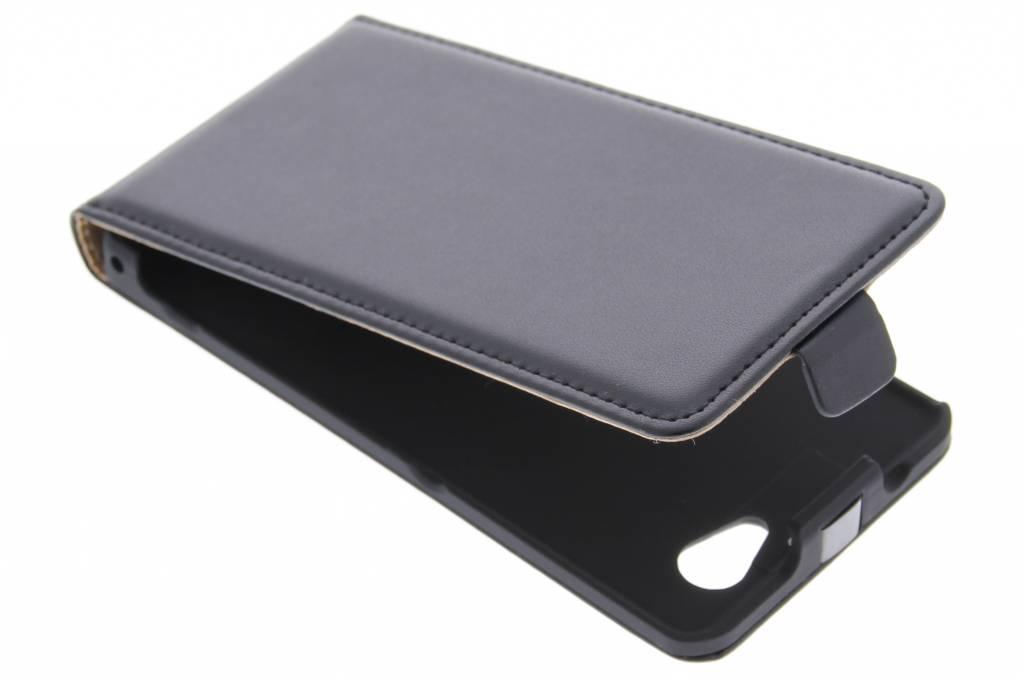 Zwarte luxe flipcase voor de Sony Xperia Z1 Compact