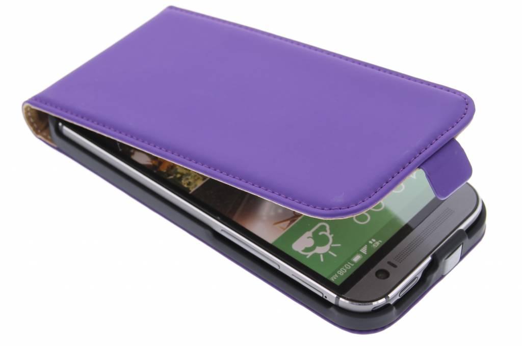 Mobiparts Premium flipcase voor de HTC One M8 / M8s - Purple