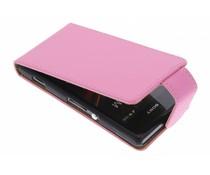 Roze classic flipcase Sony Xperia M