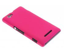 Fuchsia effen hardcase Sony Xperia M