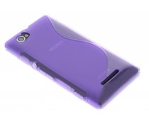 Paars S-line TPU hoesje Sony Xperia M