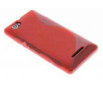 Rood S-line TPU hoesje Sony Xperia M