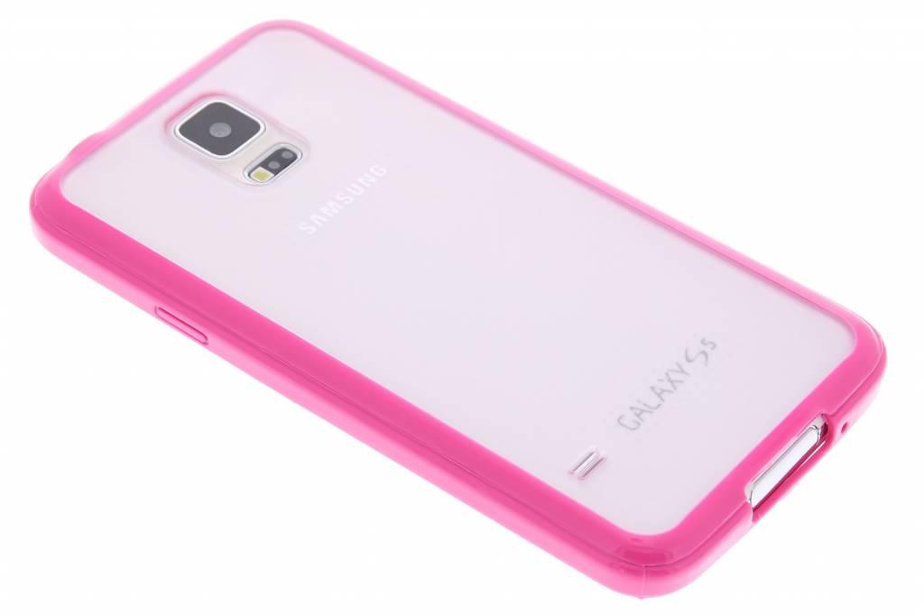 Fuchsia hardcase met TPU rand voor de Samsung Galaxy S5 (Plus) / Neo