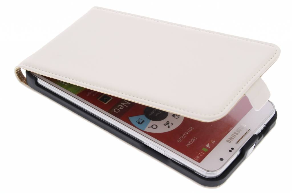 Mobiparts Premium flipcase voor de Samsung Galaxy Note 3 Neo - White