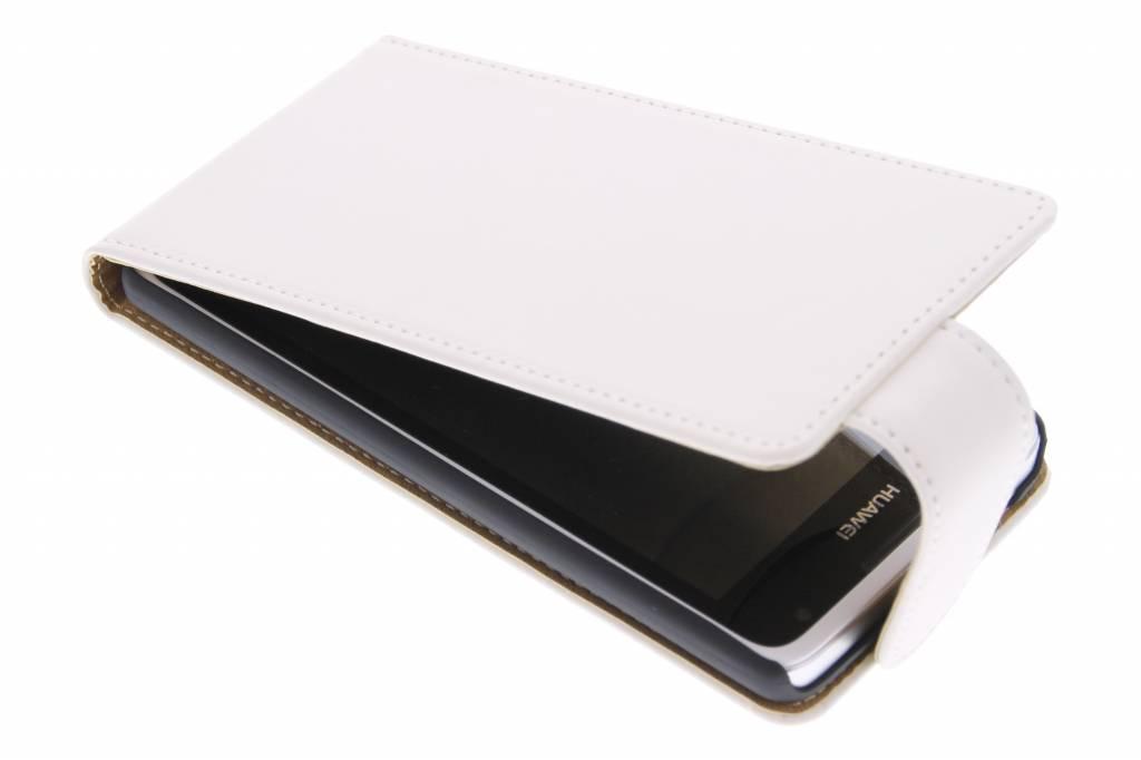 Witte classic flipcase voor de Huawei Ascend Y530