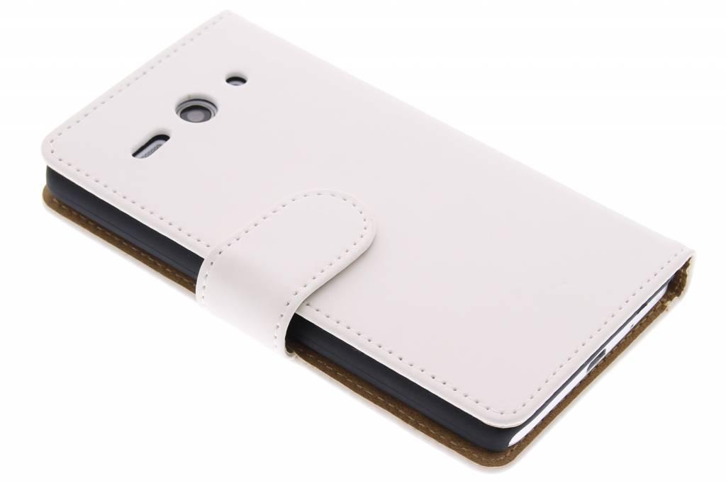 Witte effen booktype hoes voor de Huawei Ascend Y530