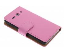 Roze effen booktype Huawei Ascend Y530
