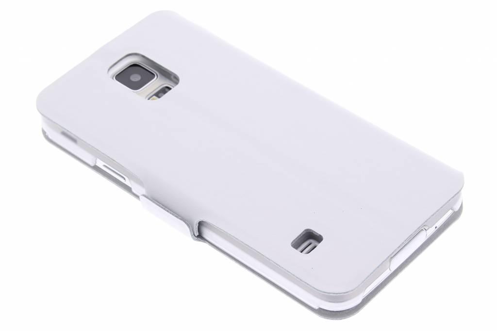 Witte stijlvolle booktype hoes voor de Samsung Galaxy S5 (Plus) / Neo