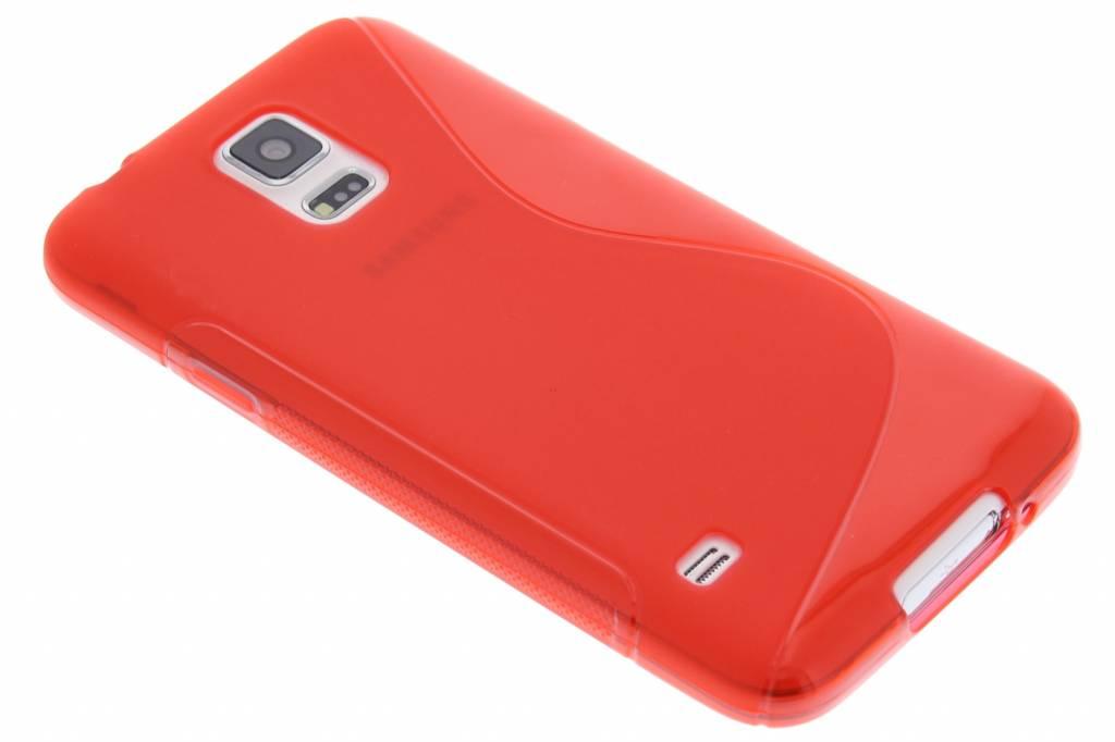 Rood S-line TPU hoesje voor de Samsung Galaxy S5 (Plus) / Neo