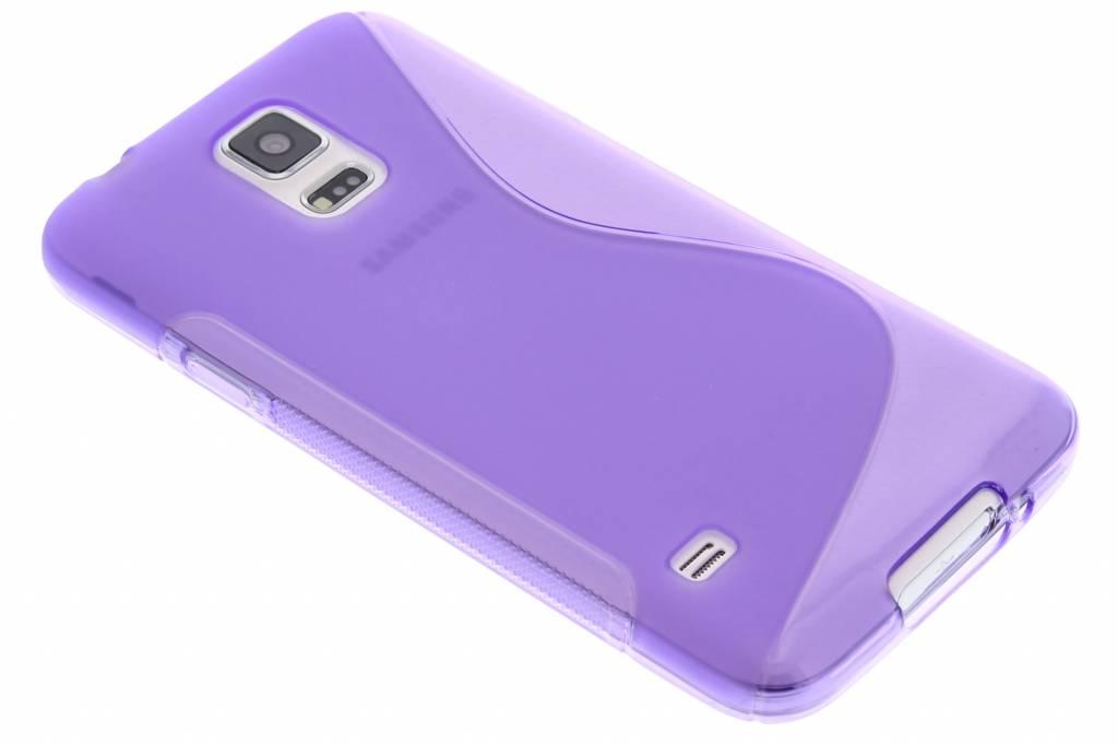 Paars S-line TPU hoesje voor de Samsung Galaxy S5 (Plus) / Neo