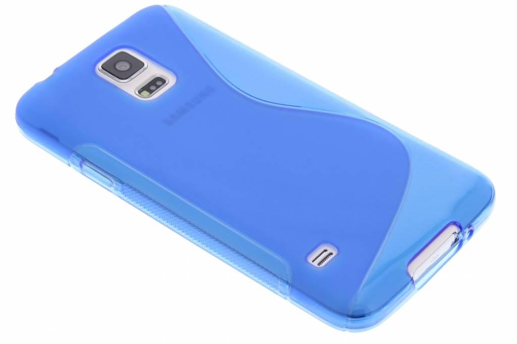 Blauw S-line TPU hoesje voor de Samsung Galaxy S5 (Plus) / Neo