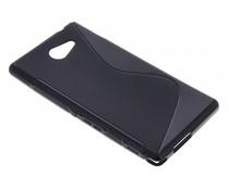 Zwart S-line TPU hoesje Sony Xperia M2 (Aqua)