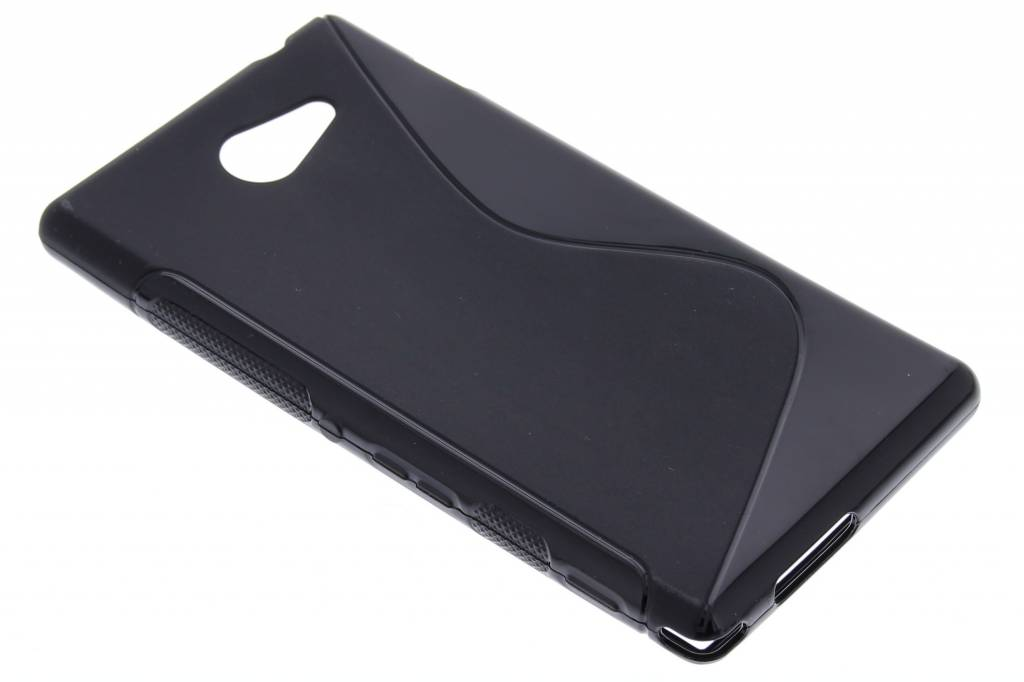 Zwart S-line TPU hoesje voor de Sony Xperia M2 (Aqua)