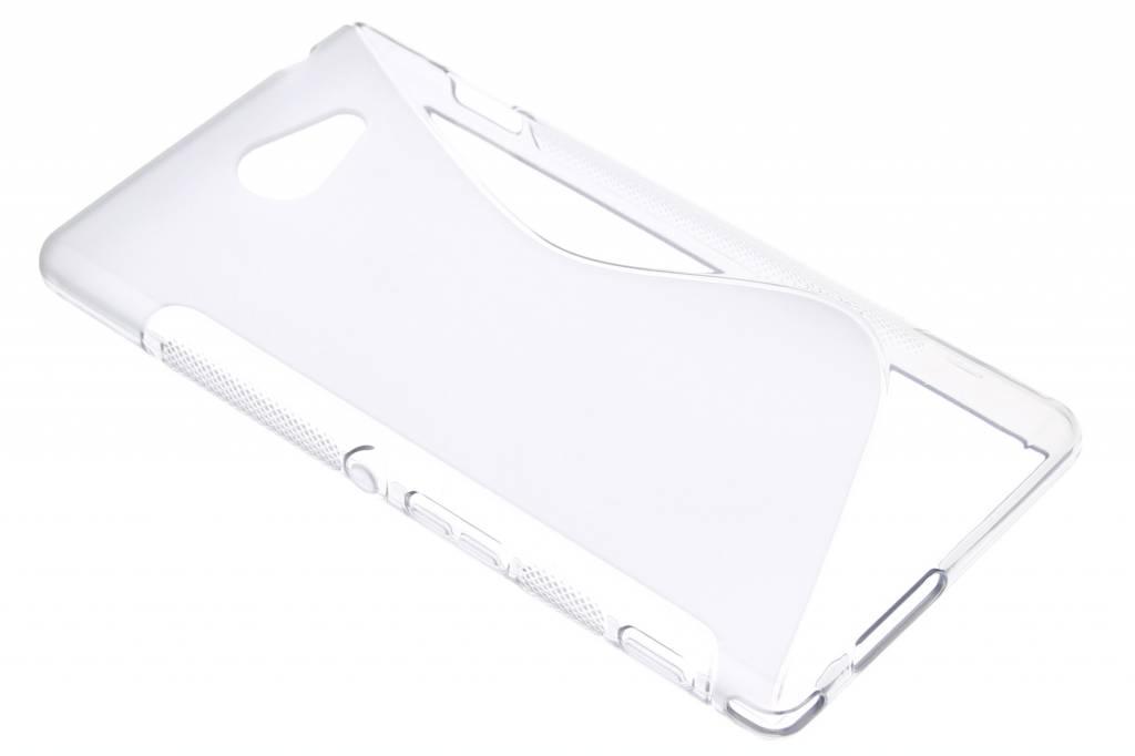 Transparant S-line TPU hoesje voor de Sony Xperia M2 (Aqua)